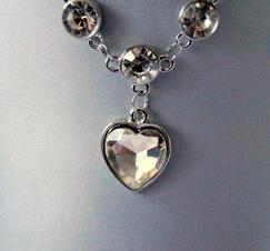 Halsband Hearts and Crystals
