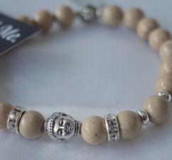 Armband Natursten Buddha