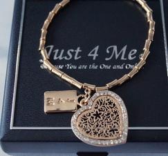 Armband Hjärtberlock Guld