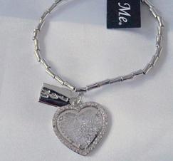 Armband Hjärtberlock Silver