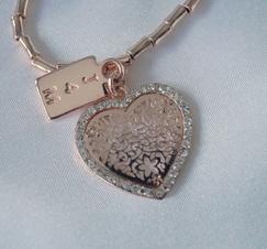 Armband Hjärtberlock Roséguld